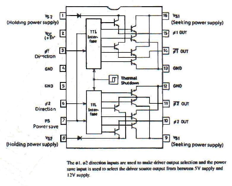 Драйвер на микросхеме LB1656